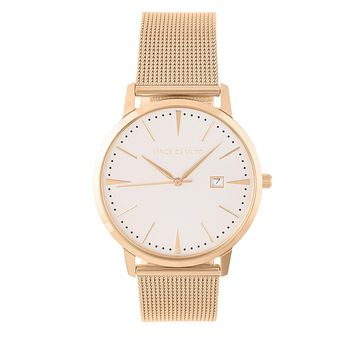 Rose Goldtone Mesh Minimalist Bracelet Watch - Women