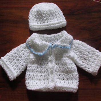 Baby Boy Cardigan And Hat Crochet Pattern 5 Size Jacket