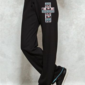 Aztec Cross Sweatpants