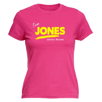 123t USA Women's Team Jones Lifetime Member Funny T-Shirt
