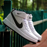 """NIKE"" Trending Fashion Casual Sports Shoes White-black hook"