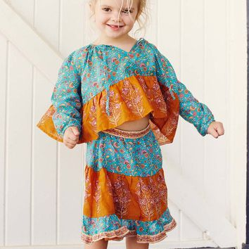 Wisteria Toddler Skirt in Allure