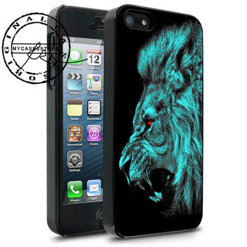 Lion Blue iPhone 4s iPhone 5 iPhone 5s iPhone 6 case, Samsung s3 Samsung s4 Samsung s5 note 3 note 4 case, Htc One Case