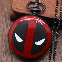 Deadpool Fullmental Alice in wonderland Nightmare Before Christmas Captain America Superman Batman Loki Pocket Watch