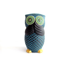Owl Bank Hand painted Owl coin bank Piggy Bank