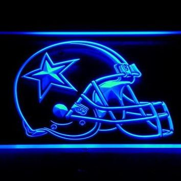 236 Dallas Cowboys Helmet Beer Bar LED Neon Sign with On/Off Switch 20+ Colors 5 Sizes to choose