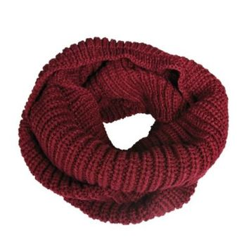 Wrapables Soft Winter Warm Scarf - Burgundy