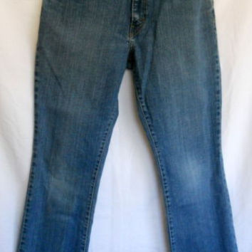 """Levi's Blue Jeans Sz 10 Short 550 Relaxed Boot Cut Stretch 30"""" X 29"""""""