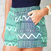 Meet Me In The Middle Shorts: Green | Hope's