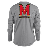 Official NCAA University of Maryland Terrapins UMD Testudo VICTORY SONG Women's Long Sleeve Spirit Wear Jersey T-Shirt