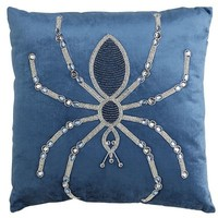 Beaded Spider Glam Pillow