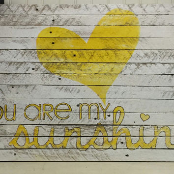 You Are My Sunshine - Bedroom Wall Art - Teen Bedroom Decor - Teen Rooms - Bedroom Decorations - Girls Room Decor - Kids Wall Decor