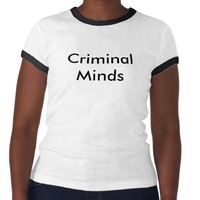 Criminal Minds T-shirts from Zazzle.com