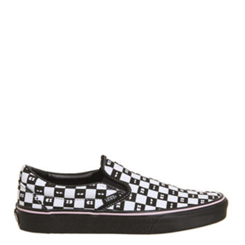 Vans Vans Classic Slip On Trainers Lazy Oaf Eyeballs Checkerboard - Hers trainers