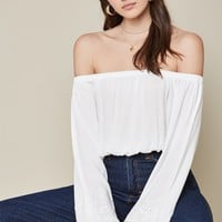 LA Hearts Off-The-Shoulder Eyelet Embroidered Top at PacSun.com