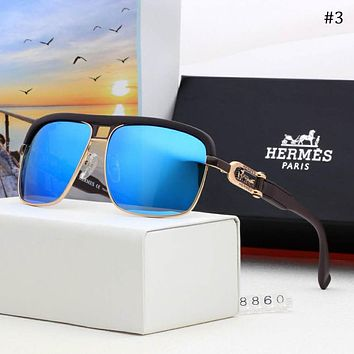 Hermes 2018 new men's polarized color film fashion sunglasses #3