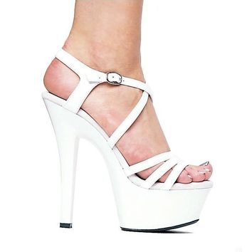 Ellie Shoes E-601-Dreamer 6 Heel Strappy Sandal