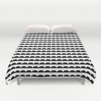 Black and White Duvet Cover - Black and White Bedding - Modern Kids Bedding - Girls Bedding - Bedding - Modern Home Decor - Modern Duvet