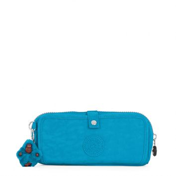 Kipling Women's Wolfe Roll-Up Pencil-Makeup Pouch One Size Polaris Blue