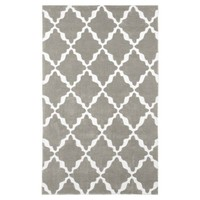 Lattice Rug, Warm Gray