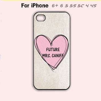 Future Mrs Taylor Caniff Cute Pink Heart Boyfriend iPhone Case 4 4s 5 5s 5c 6-5 Colors Available