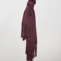 Pieces Long Tassel Scarf at asos.com