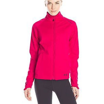 Under Armour Women's ColdGear Infrared Softershell Jacket, Fury/Black, Large