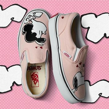 Vans X Peanuts Snoopy Canvas Old Skool Flats Shoes Sneakers Sport Shoes