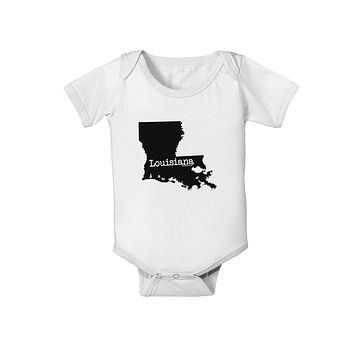 Louisiana - United States Shape Baby Romper Bodysuit by TooLoud