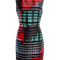 Fendi Striped Silk Sheath Dress