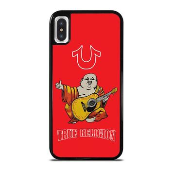 RED BIG BUDDHA TRUE RELIGION iPhone X Case Cover