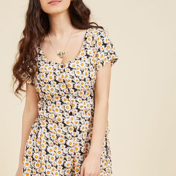 Adrift on Daisies Floral Romper