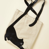 Paws for a Stretch Tote | Mod Retro Vintage Bags | ModCloth.com