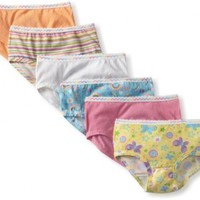 Fruit of the Loom Little Girls'   Wardrobe Brief ,Assorted,2T/3T(Pack of 6)