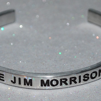 I Love Jim Morrison  |  Engraved Handmade Bracelet By Say It and Wear It Jewelry