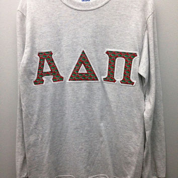 Alpha Delta Pi Sorority Small Long Sleeve T Shirt with Greek Letters -- Ready to Ship!