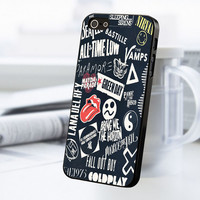 Coldplay 5sos All Time Low Lana Del Rey 1975 iPhone 5 Or 5S Case