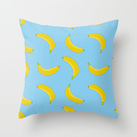 Go Bananas! Throw Pillow by Uma Gokhale