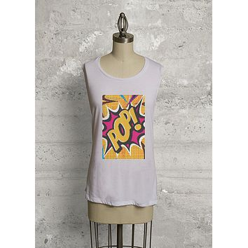 COMIC POP ART KNIT TOPS