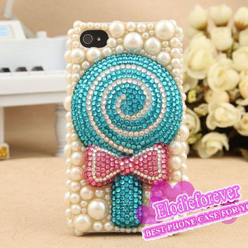 Cute Iphone cases,Bling Bling iPhone 5 Case, Candy iPhone 4 case, Sweet iPhone 4S case, Lollipop iPhone 5 Case, Designer iPhone case, C002