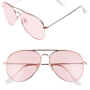 BP. 67mm Colored Aviator Sunglasses | Nordstrom