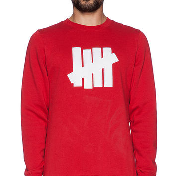 Undefeated 5 Strike Pullover in Red