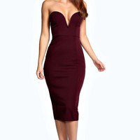 Sammy Plunge Bodycon Midi Dress