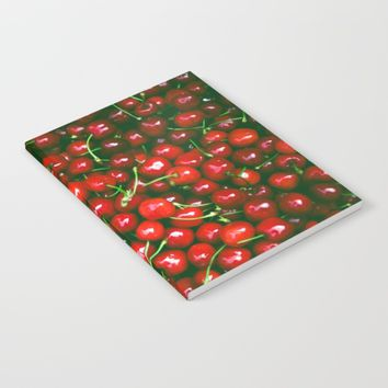 Fresh Cherries fruit pattern Notebook by PRODUCTPICS
