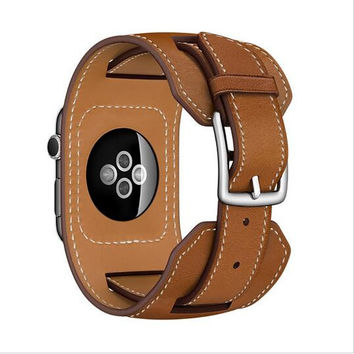 Dalan Series 2 1 Genuine Leather Loop For Apple Watch Band 38Mm Cuff Strap For Apple Watch Leather Link Bracelet 42Mm