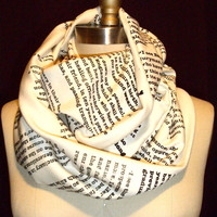 Wrap Up With A Good Book Scarf- CUSTOM ORDER