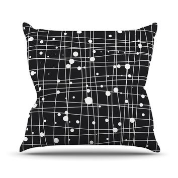 "Budi Kwan ""Woven Web Mono"" Throw Pillow"