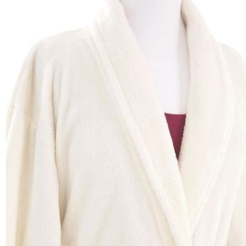 Sheepy Fleece Ivory Robe