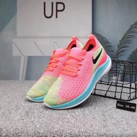 """""""Nike Free"""" Women Casual Fashion Multicolor Barefoot Flyknit Running Shoes Sneakers"""
