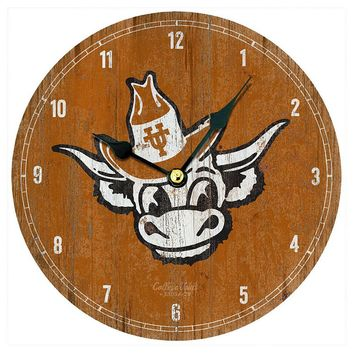 Legacy Athletic Texas Longhorns Vintage Wall Clock (Orange)